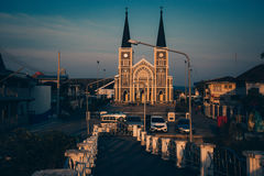 Catholic Church in Thailand. In Chanthaburi Royalty Free Stock Photos