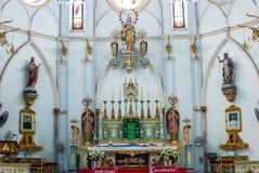 Catholic Church in Thailand. Catholic Church at Samut Songkharm, Thailand Stock Photos