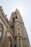 Catholic Church Cathedral Tower. Against the sun Stock Photo