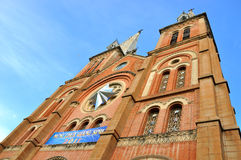 Catholic church tower in Saigon, VietNam Royalty Free Stock Photography