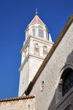 Catholic church tower in Trogir, Croatia Royalty Free Stock Photography
