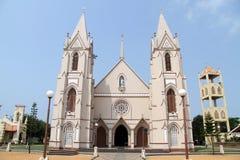 Catholic church. With towers in Negombo, Sri Lanka Stock Image
