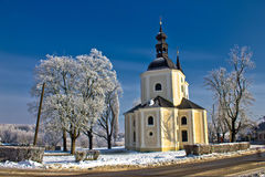 Catholic church in town of Krizevci Royalty Free Stock Images