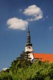 Catholic church in the town Nove mesto nad Vahom. Slovakia Stock Photo