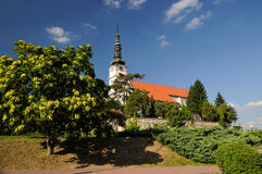 Catholic church in the town Nove mesto nad Vahom Stock Images