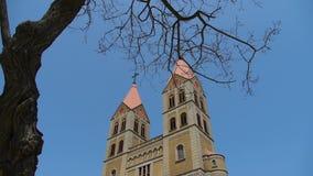 Catholic Church and tree,blue sky. Gh2_08123 stock video footage