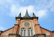 Catholic Church under Blue Sky Royalty Free Stock Photo