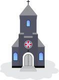 Catholic church. Vector illustration Stock Photos