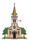 Catholic church. Vector illustration of a Catholic church, file EPS 8 Vector Illustration