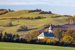 Catholic church in the village Stock Image