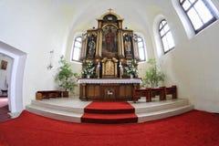 Catholic church in the village. Vysoka, Slovakia Stock Photos