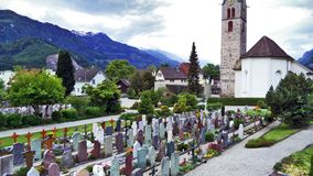 Catholic church Walenstadt or Katholische Kirche Walenstadt stock images