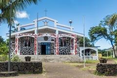 The church of Hanga Roa stock photo
