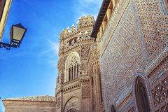 Catholic Church in Zaragoza. Rebuilt from a Mosque, Spain, Aragon Region royalty free stock images