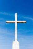Catholic cross with sky Royalty Free Stock Image