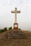 Catholic cross established in memory. Of the people: Abilio Areal and Maria Jose, 1871-1936 royalty free stock image