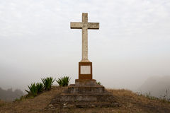 Catholic cross established in memory. Of the people: Abilio Areal and Maria Jose, 1871-1936 stock photo