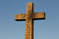 Catholic cross from ganada with sky background Stock Images