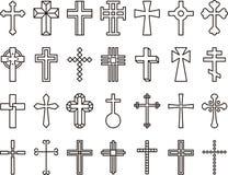 Catholic cross icons Stock Photography