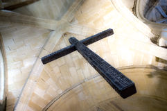 Catholic cross. At Santo Domingo de la Calzada, La Rioja, Spain Royalty Free Stock Photo