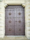 Doors into the church. Lviv. Ukraine. Catholic. Entrance. Achitecture royalty free stock photography