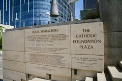 The Catholic Foundation Plaza, Dallas Texas. The Catholic Foundation promotes compassionate charitable giving and stewardship that serves donors and the needs of Royalty Free Stock Images
