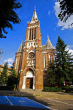 Catholic Gothic Church. Lateral view of a catholic gothic church in Arad Romania Royalty Free Stock Photos