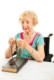 Catholic Grandmother Prays the Rosary Stock Photography