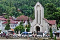 Catholic Holy Rosary church in Sapa Royalty Free Stock Photo