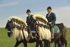Catholic horse procession Royalty Free Stock Photography
