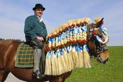 Catholic horse procession Royalty Free Stock Photos