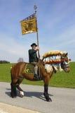 Catholic horse procession Royalty Free Stock Images