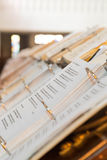 Catholic Hymnals in Chapel Stock Photography