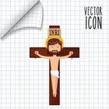 Catholic icon design Royalty Free Stock Image