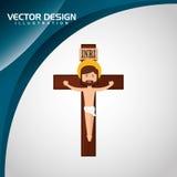 Catholic icon design Stock Image
