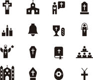 Catholic icon set Royalty Free Stock Photo