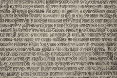 catholic inscription latin medieval 库存图片