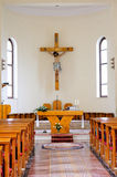 Catholic interior church Stock Photos