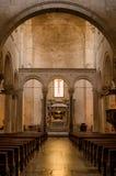 Catholic italian church. Inside. Arcs and Altar. Stock Image