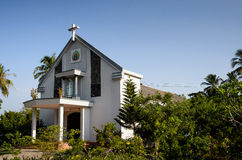 0026-Catholic kościół przy wsią - Bentre prowincja Fotografia Royalty Free