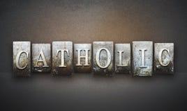 Catholic Letterpress Stock Photography