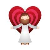 Výsledek obrázku pro cartoon jesus with heart