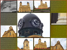 Catholic monastery, Debrecen, Hungary. Reformed Great Church in Debrecen city, Hungary stock image