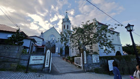 Catholic Motomachi Church at Hakodate, Japan Royalty Free Stock Image