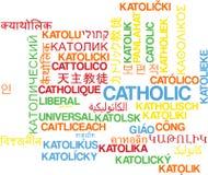 Catholic multilanguage wordcloud background concept Stock Images