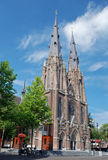Catholic neo-Gothic Catharina Church, Eindhoven. Catharinakerk, Catherine Church, a Roman Catholic Church in the Centre of Eindhoven, Noord-Brabant, Netherlands royalty free stock image