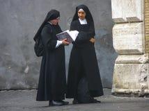 Catholic Nuns. Nuns in Trastavere, Rome (Italy Royalty Free Stock Image