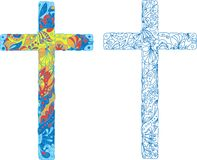 Catholic ornamented cross for Easter holiday Royalty Free Stock Images