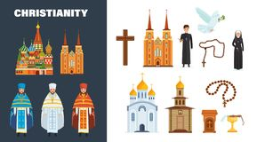 Catholic and orthodox christianity. Belief in God, Christianity, Orthodoxy. Catholic and orthodox christianity. Beautiful cathedral and church building, chapel Stock Photo