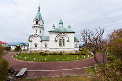 Catholic orthodox church at Motomachi, Hakodate. Catholic orthodox church at Motomachi district in Hakodate, Japan Stock Photos